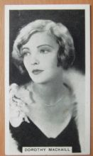 Dorothy Mackaill, Cigarette Card, Godfrey Phillips, Cinema Stars, 1930 card #23